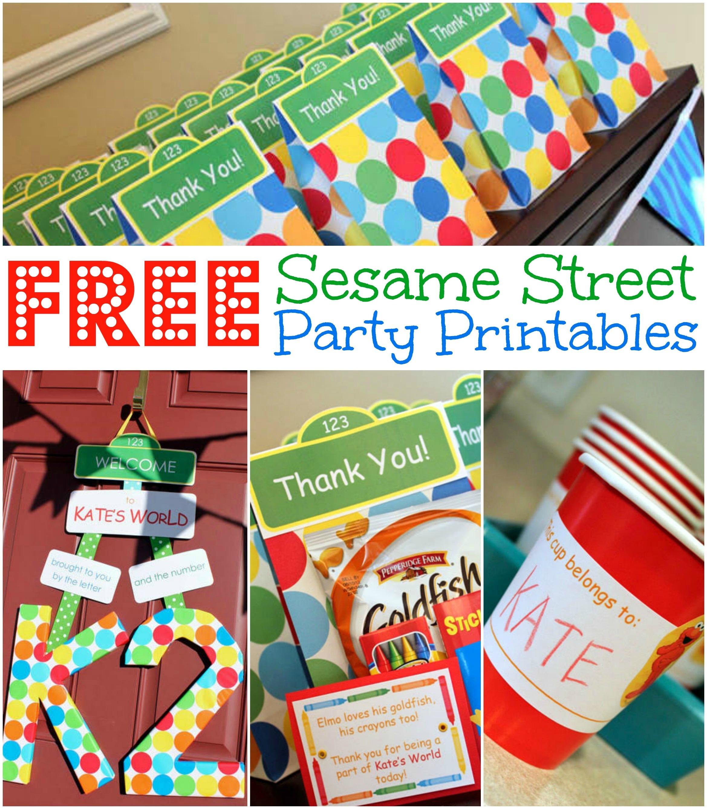 Free Sesame Street Birthday Party Printables - Free Printable Sesame Street Food Labels