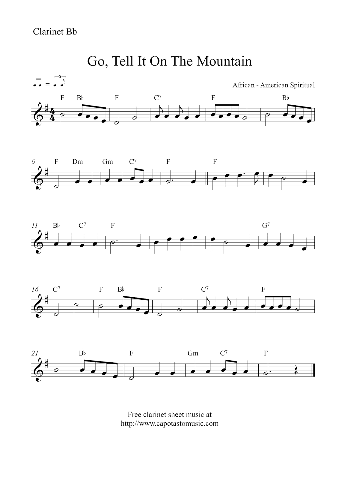 Free Sheet Music Scores | Music | Pinterest | Music Score, Free - Free Printable Christmas Sheet Music For Clarinet