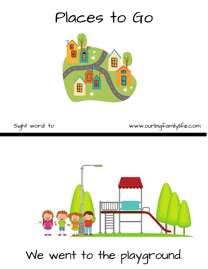 """Free Sight Word Booklet (Printable) For The Word """"to"""". I Created - Free Printable Word Family Mini Books"""