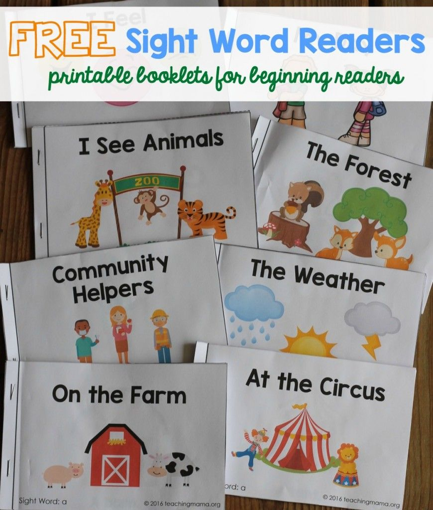 Free Sight Word Readers - Printable Booklets That Focus On Sight - Free Printable Sight Word Books