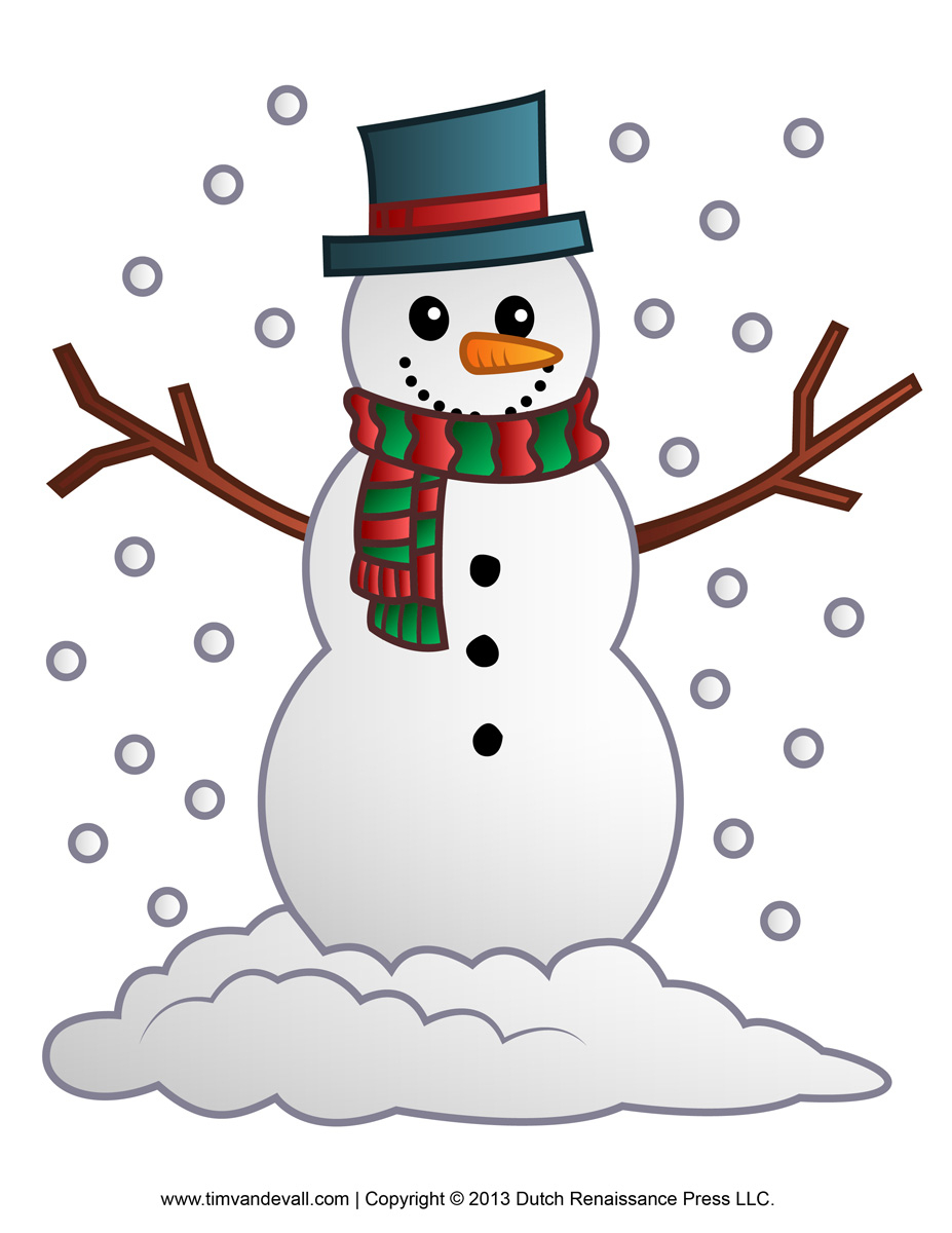 Free Snowman Clipart, Template & Printable Coloring Pages - Free Printable Snowman Patterns