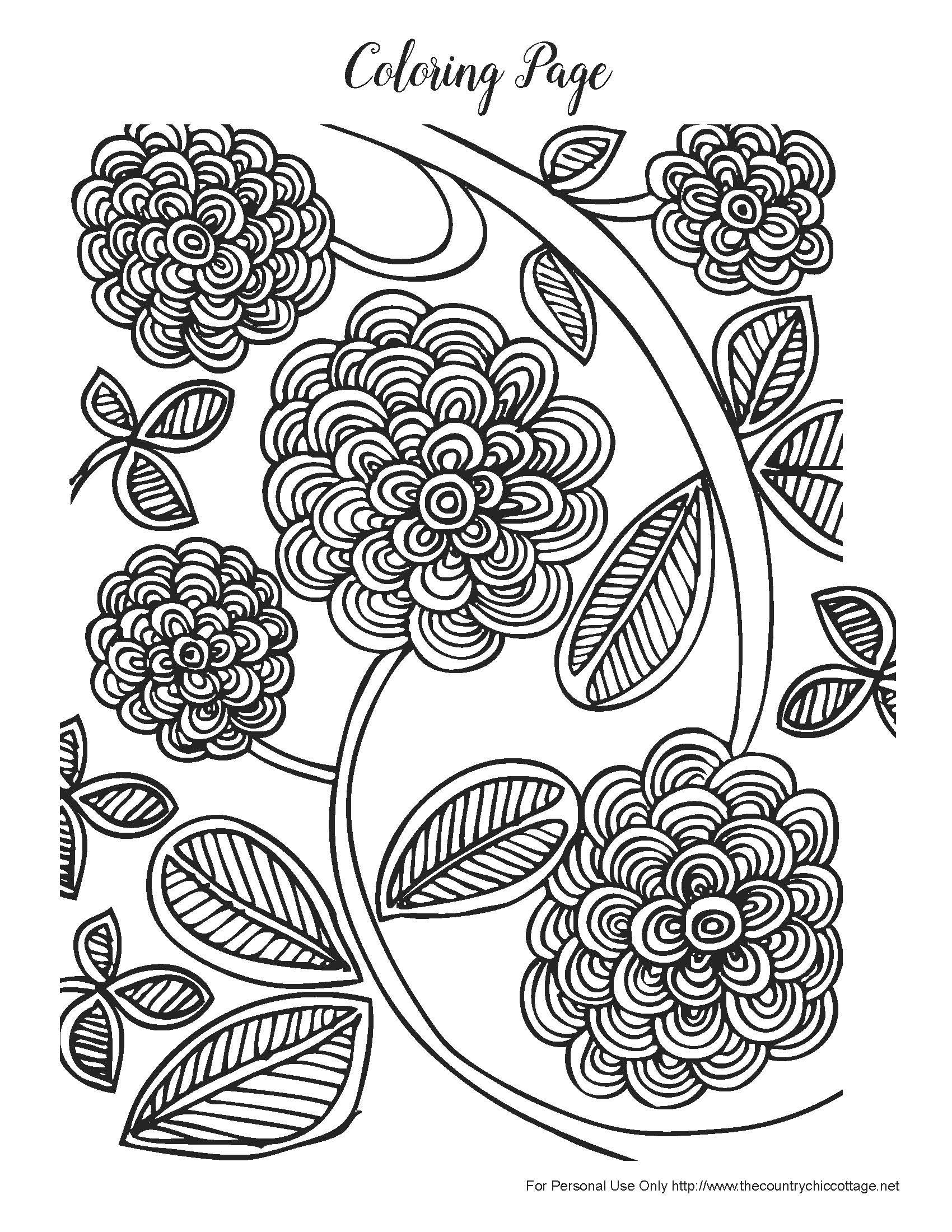 Free Spring Coloring Pages For Adults | Products I Love | Pinterest - Free Printable Coloring Cards For Adults