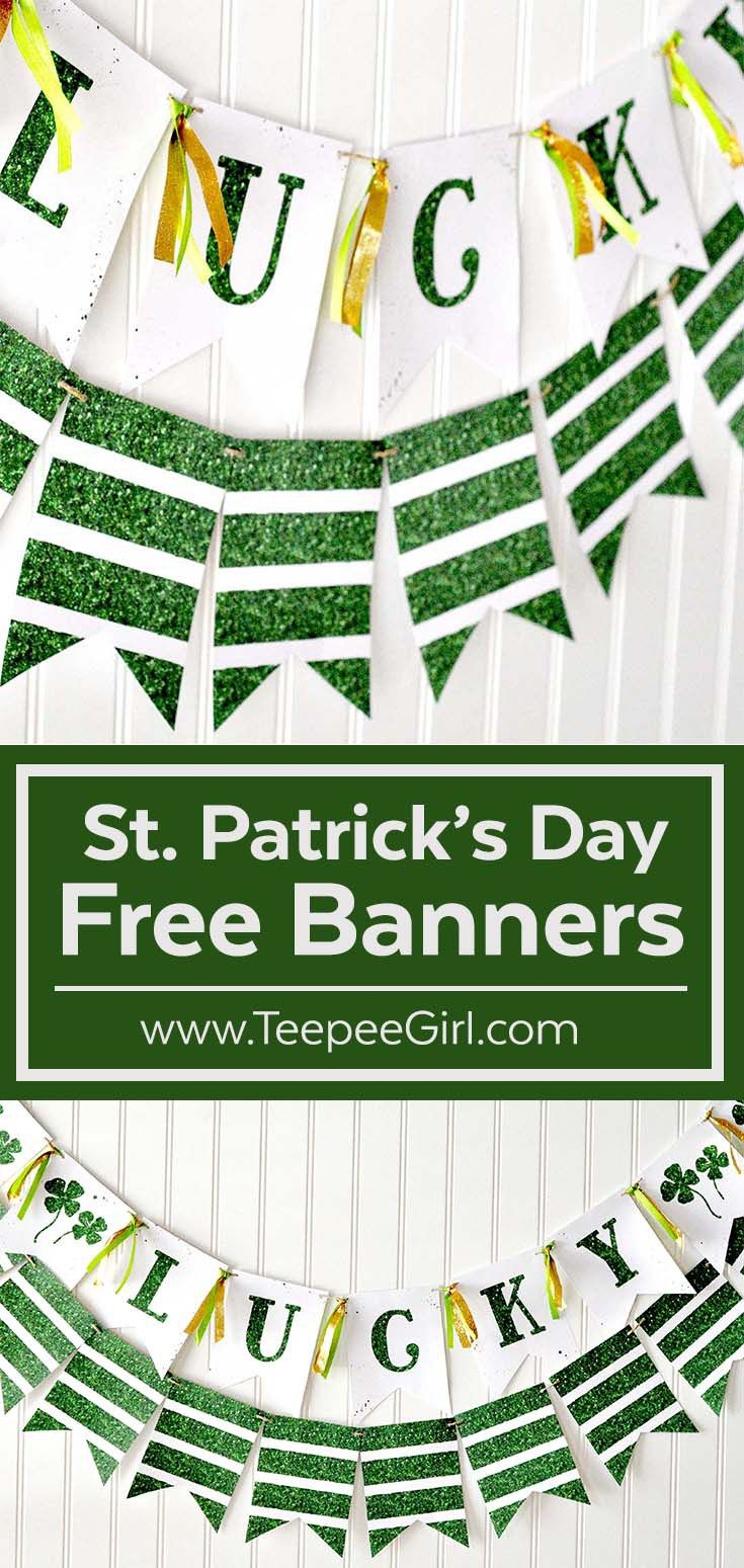 Free St. Patrick's Day Banner | Winter Holidays (Except Christmas - Free Printable St Patrick's Day Banner