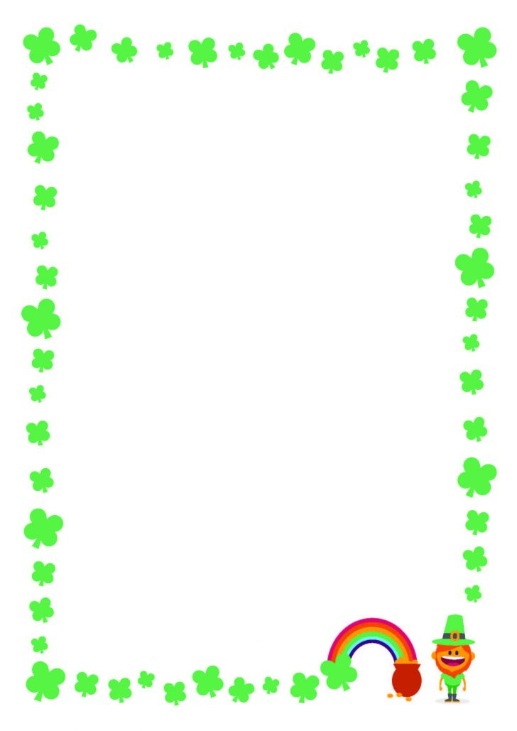 Free Printable St Patricks Day Stationery