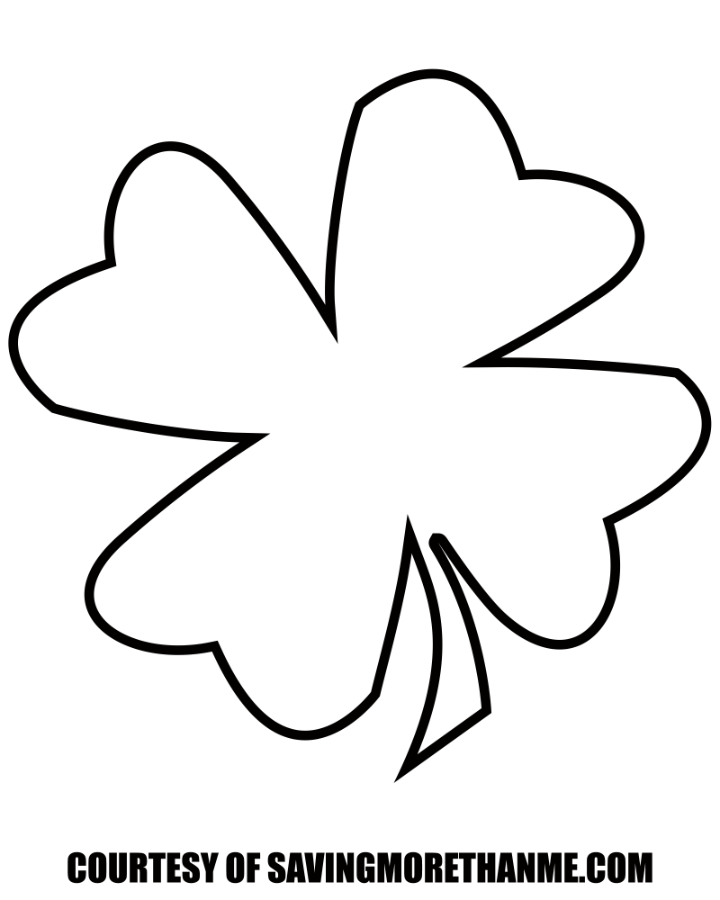 Free St Patricks Day Printables: Coloring Pages, Clover Templates, Etc - Four Leaf Clover Template Printable Free
