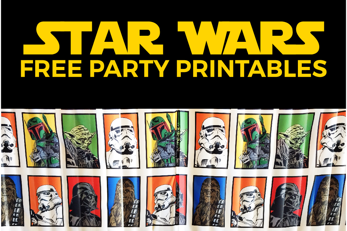Free Star Wars Party Printables: A No-Stress Way To A Galactic Party - Star Wars Printable Cards Free
