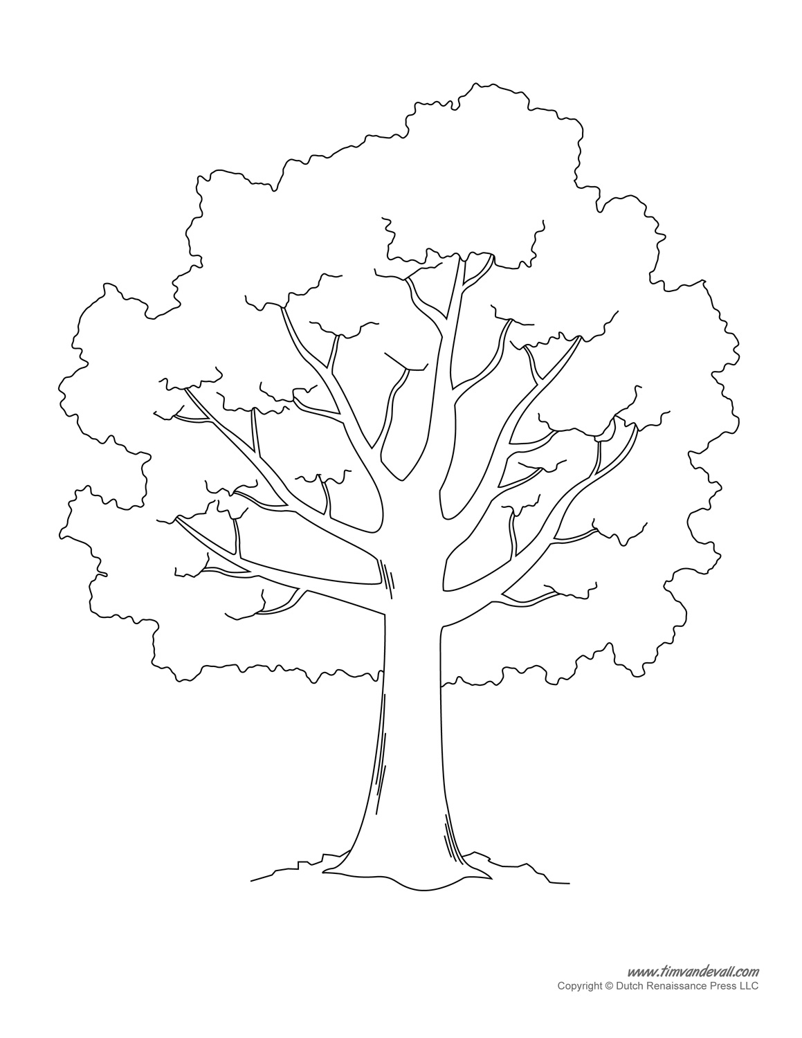 Free Stencil Of A Tree Outline, Download Free Clip Art, Free Clip - Free Printable Tree Template