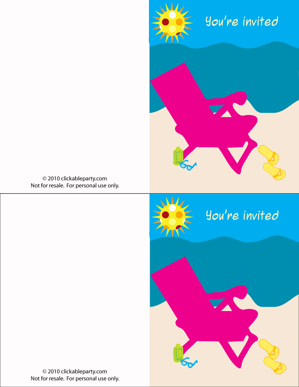 Free Summer Party Printables From Clickable Party | Catch My Party - Free Printable Summer Pictures