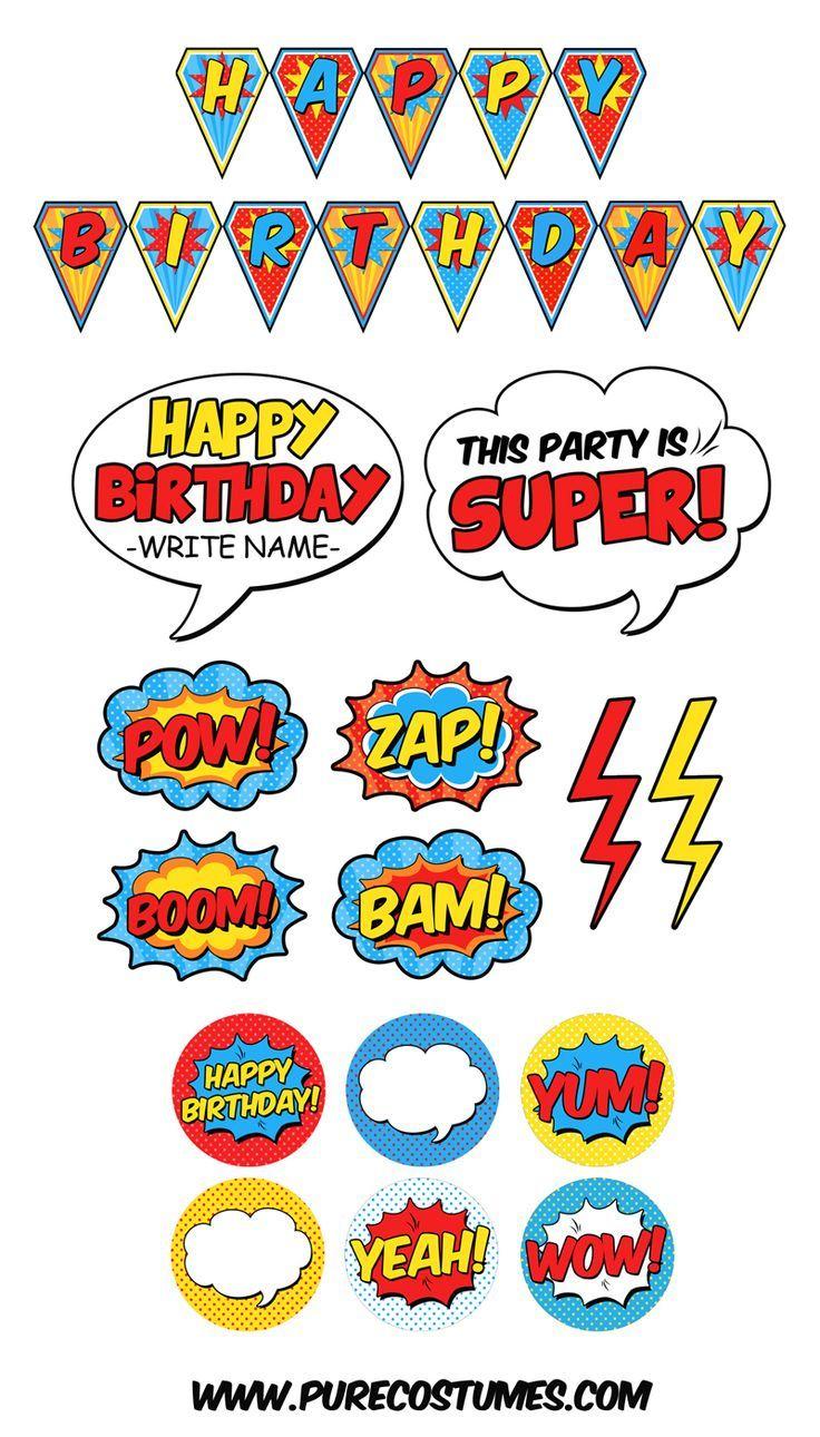 Free Superhero Pary Printables | Mots, Lettres Et Tags - Superhero Name Tags Free Printable