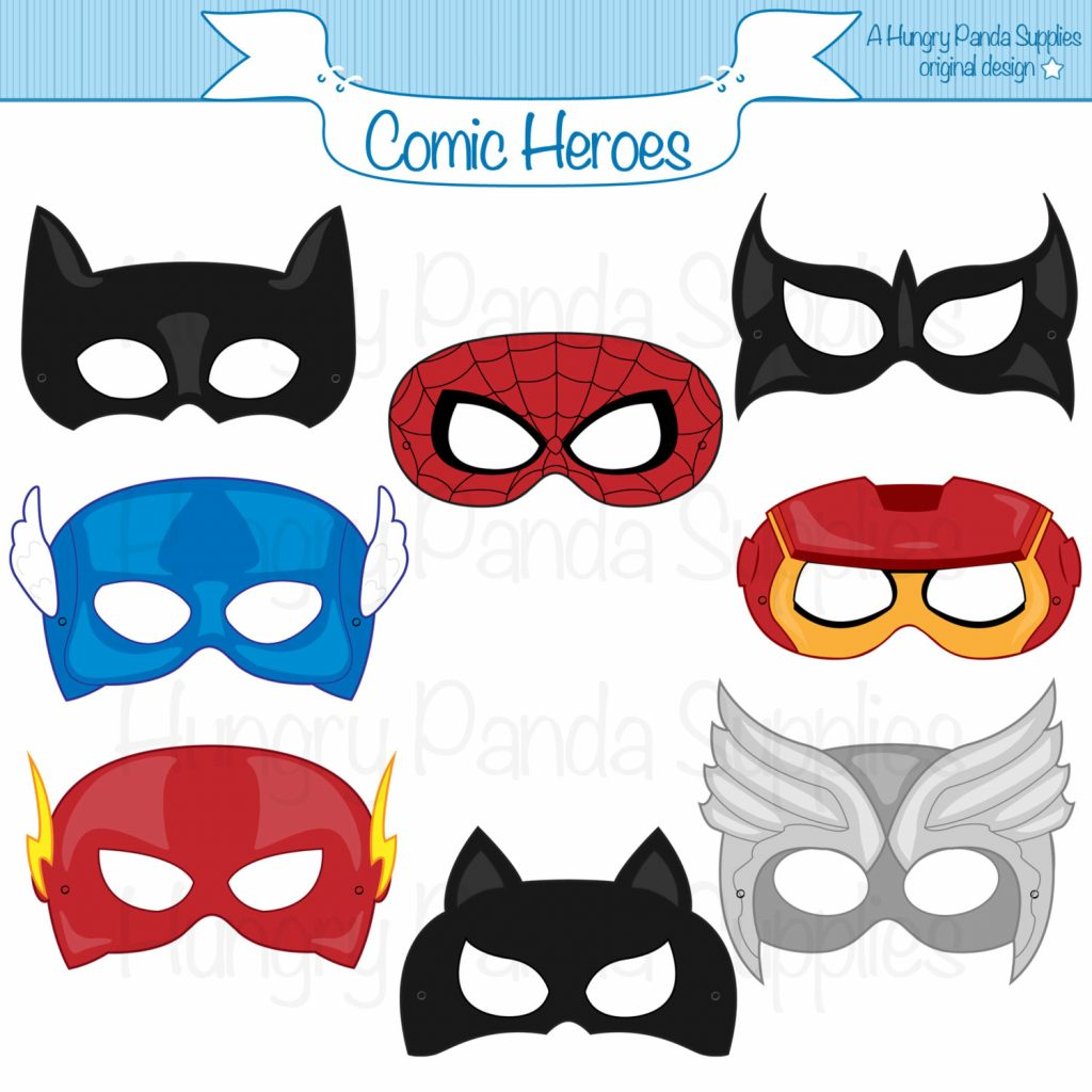image about Printable Superhero Mask called Totally free Superhero Printables, Down load Totally free Clip Artwork, Free of charge Clip