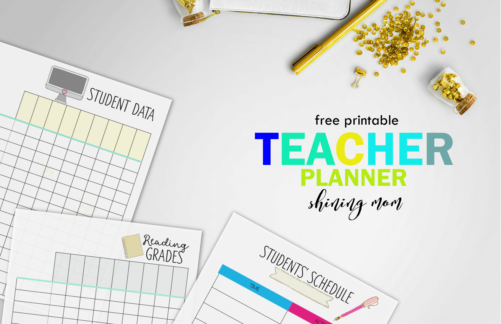 Free Teacher Binder Printables: Over 25 Pretty Planning Templates! - Printable Teacher Planner Free