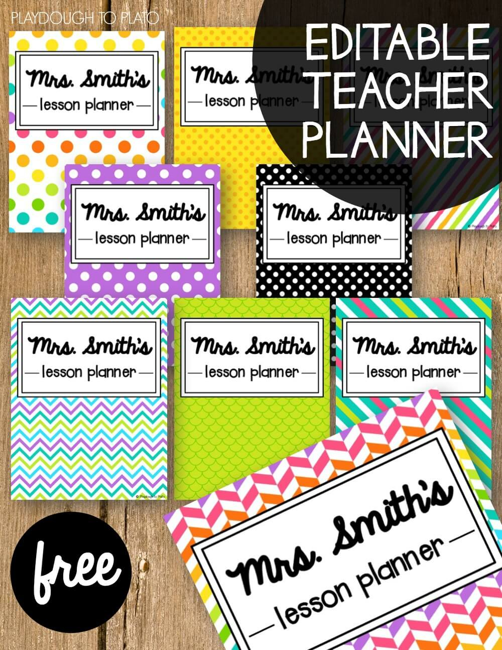 Free Teacher Planner - Playdough To Plato - Printable Teacher Planner Free