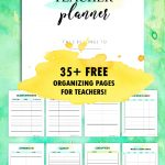 Free Teacher Planner Printables: 35 Organizing Sheets | Ideas For – Free Printable Teacher Planner
