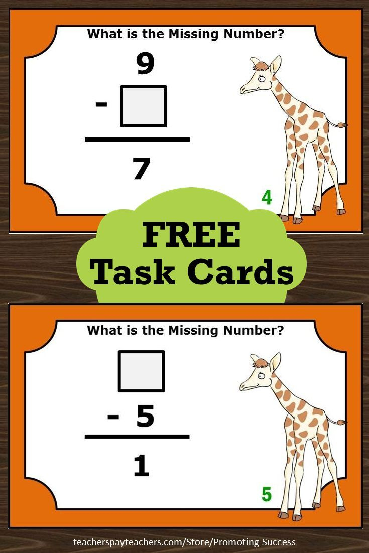 Free Teacher Printable Math Center Task Cards To Supplement Your - Free Printable Kindergarten Task Cards