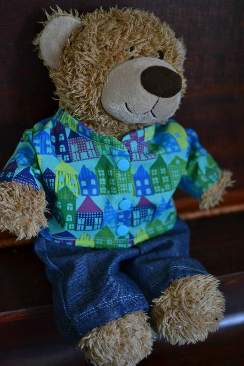 Free Teddy Bear Jacket Pattern For 16In. Bears | Sewing Tutorials - Free Printable Teddy Bear Clothes Patterns