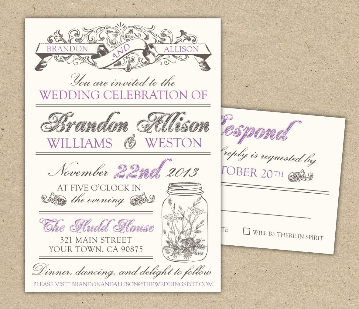 Free Templates For Invitations | Free Printable Vintage Wedding - Free Printable Wedding Invitations Templates Downloads
