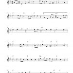 Free Tenor Saxophone Sheet Music, The Star Spangled Banner   Free Printable Piano Sheet Music For The Star Spangled Banner