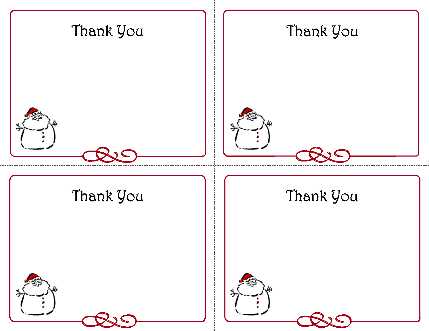 Free Thank You Cards Printable | Free Printable Holiday Gift Tags - Free Online Printable Christmas Cards