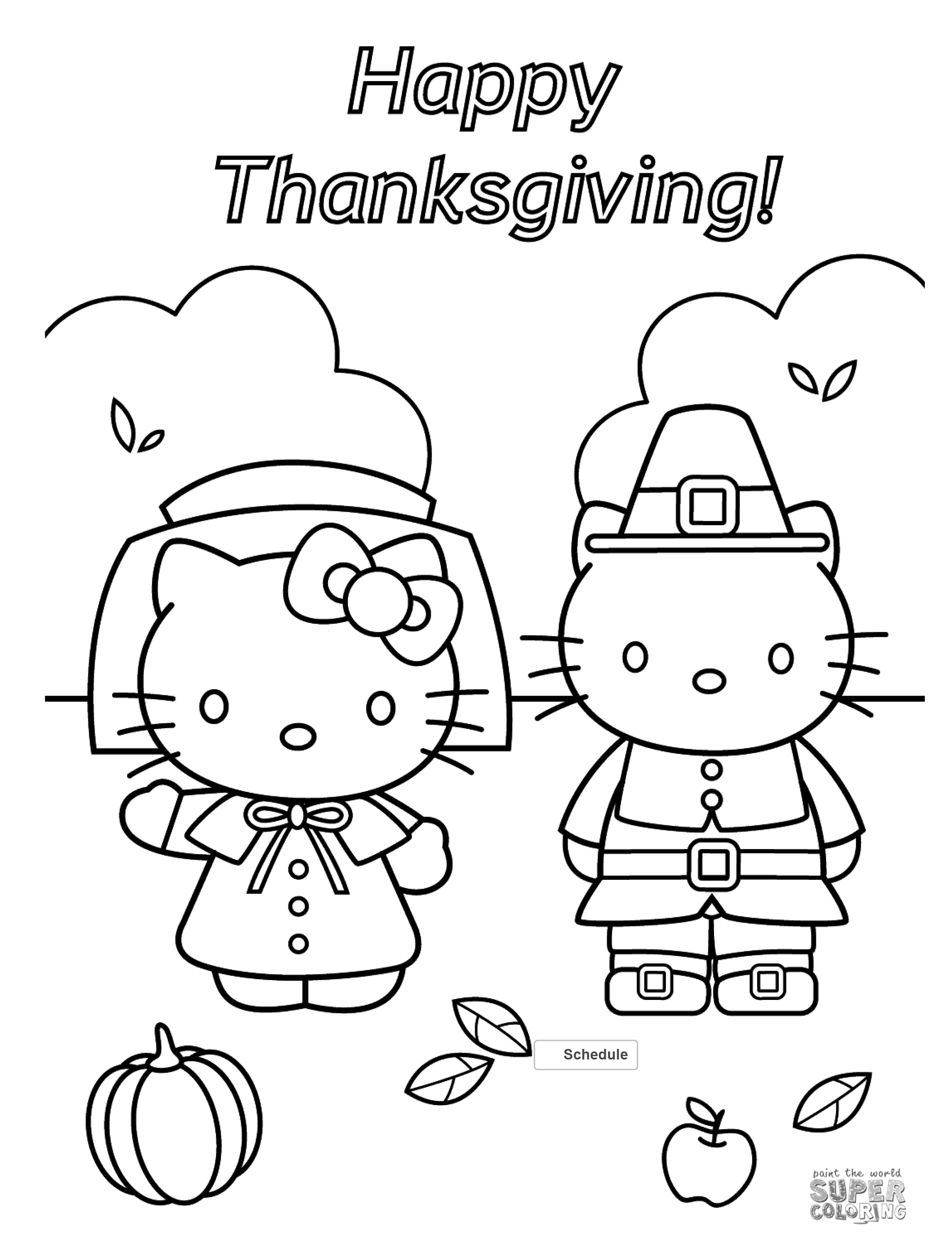 Free Thanksgiving Coloring Pages For Adults & Kids - Happiness Is - Free Printable Turkey Coloring Pages