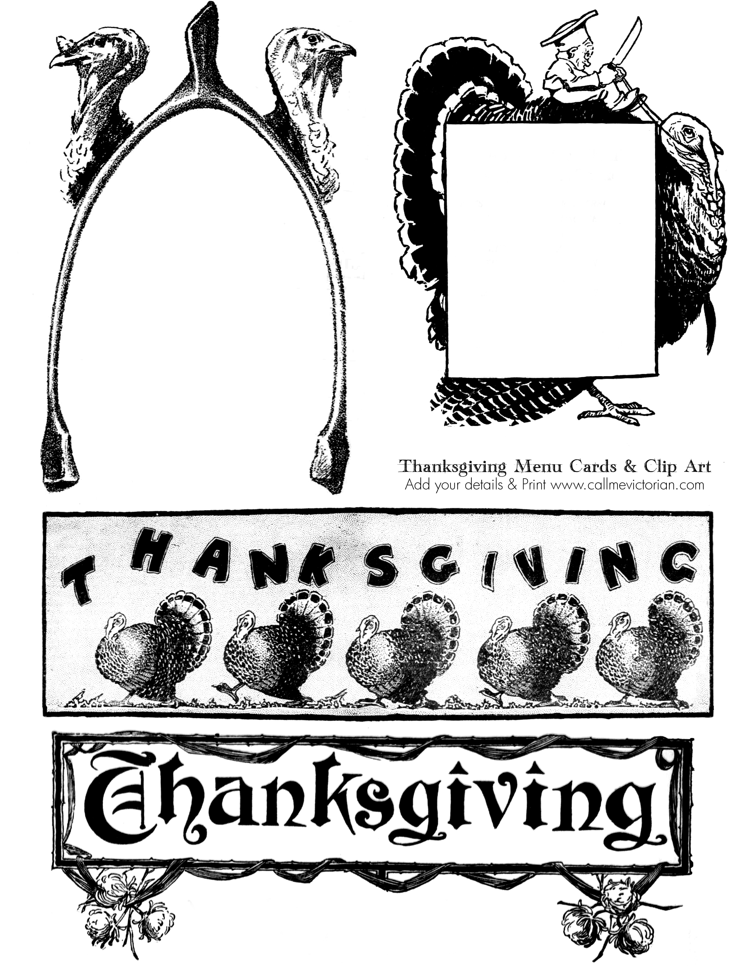 Free Thanksgiving Printable Clipart Collection - Free Printable Thanksgiving Graphics
