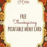 Free Thanksgiving Printables | Thanksgiving | Pinterest   Free Printable Thanksgiving Menu Template