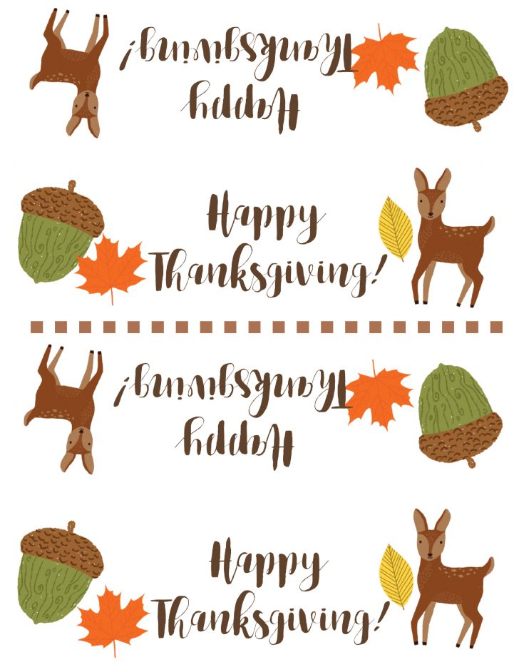 Free Printable Thanksgiving Treat Bag Toppers