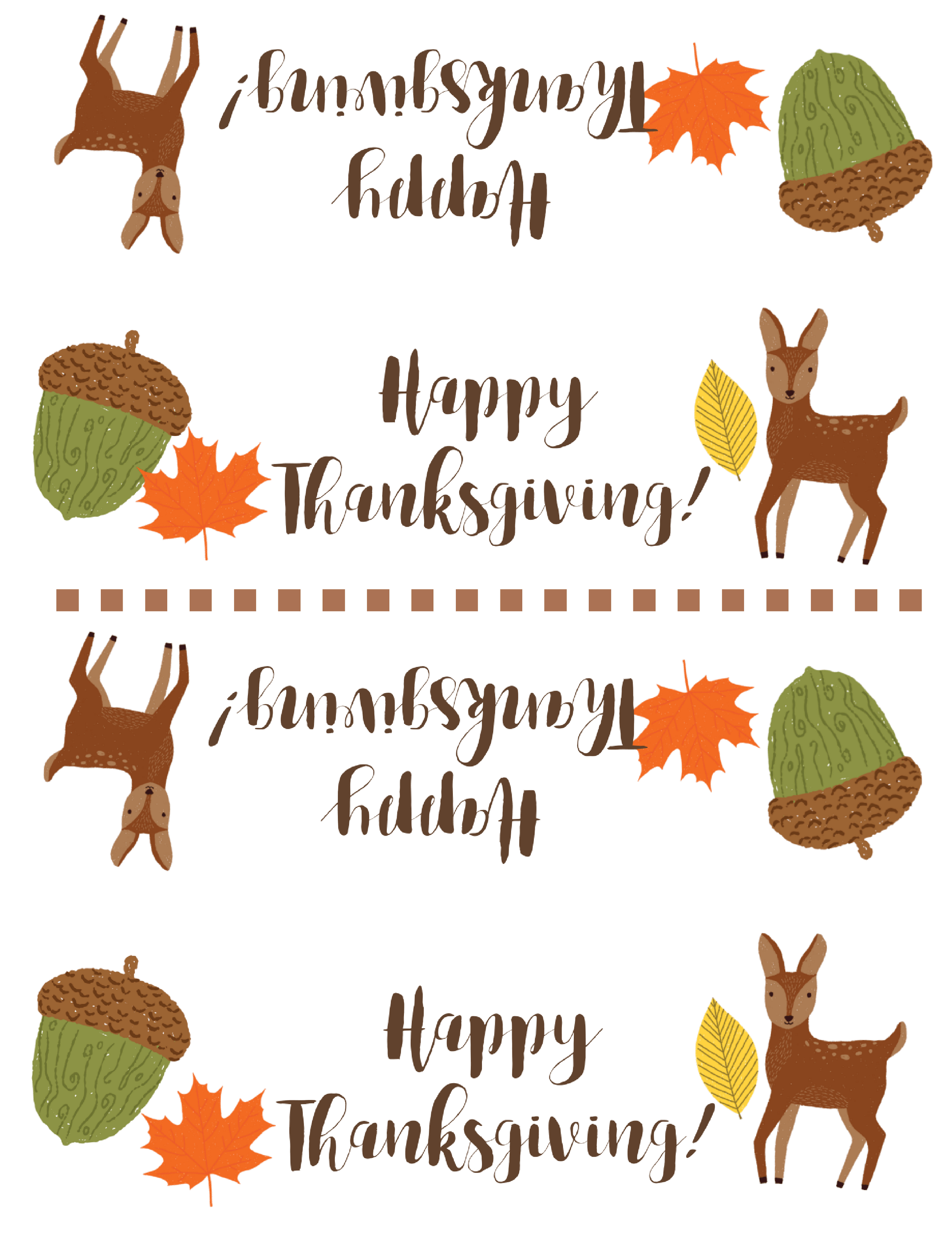 Free Thanksgiving Treat Bag Topper Printable | Simply Happy Mama - Free Printable Thanksgiving Treat Bag Toppers