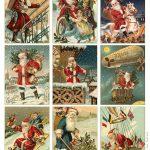 Free To Download! Printable Vintage Santa Tags Or Cards. | Free   Free Printable Vintage Pictures
