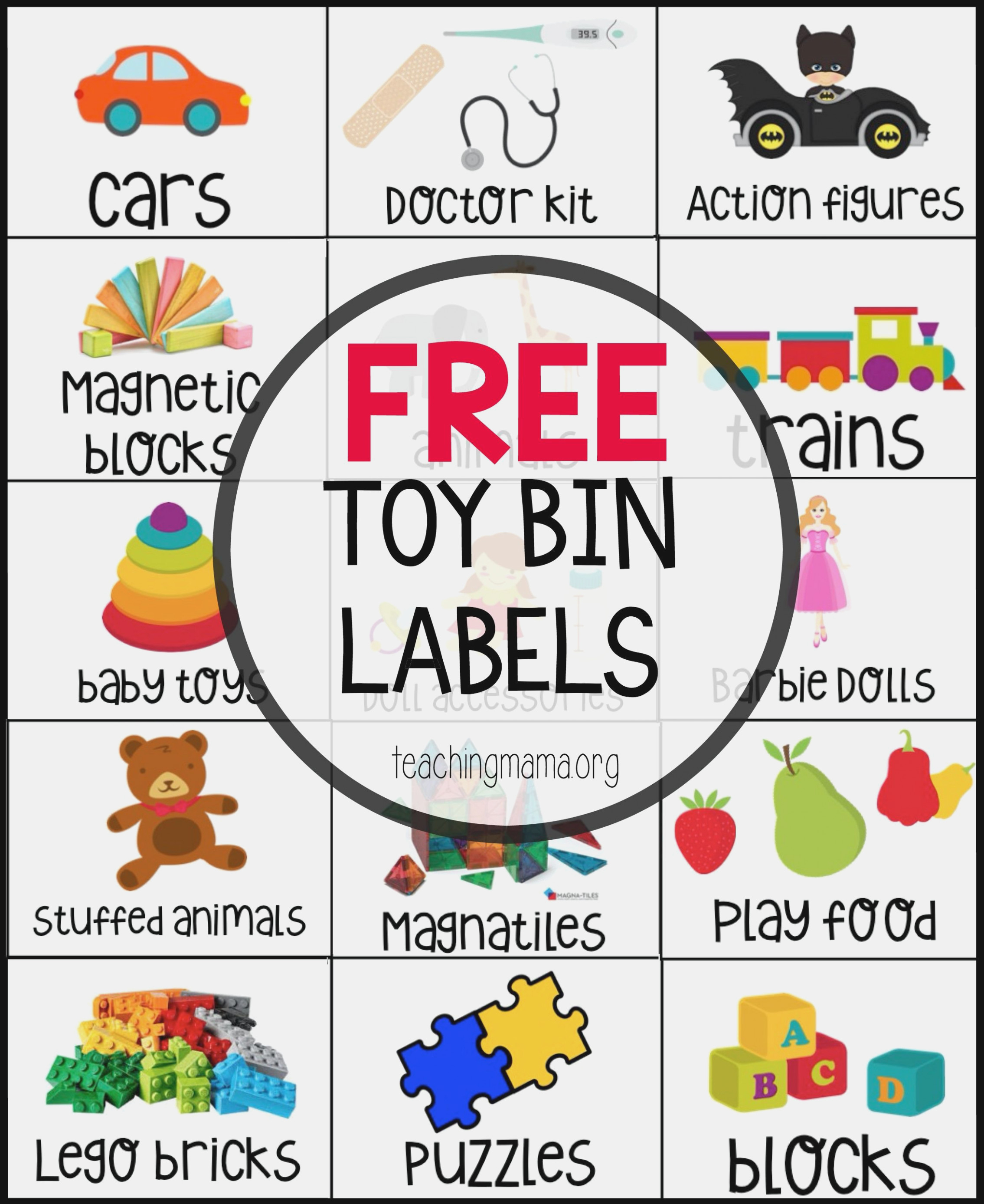Free Toy Bin Labels In 10 | Teaching Mama's Posts | Pinterest - Free Printable Classroom Labels With Pictures