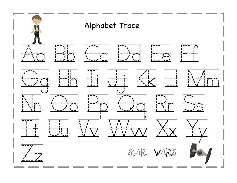 Free Traceable Alphabet For Kids | Prints | Pinterest | Alphabet For - Free Printable Tracing Alphabet Worksheets