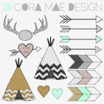 Free Tribal Clipart | Fonts | Pinterest | Tribal Baby Shower, Clip   Free Printable Teepee