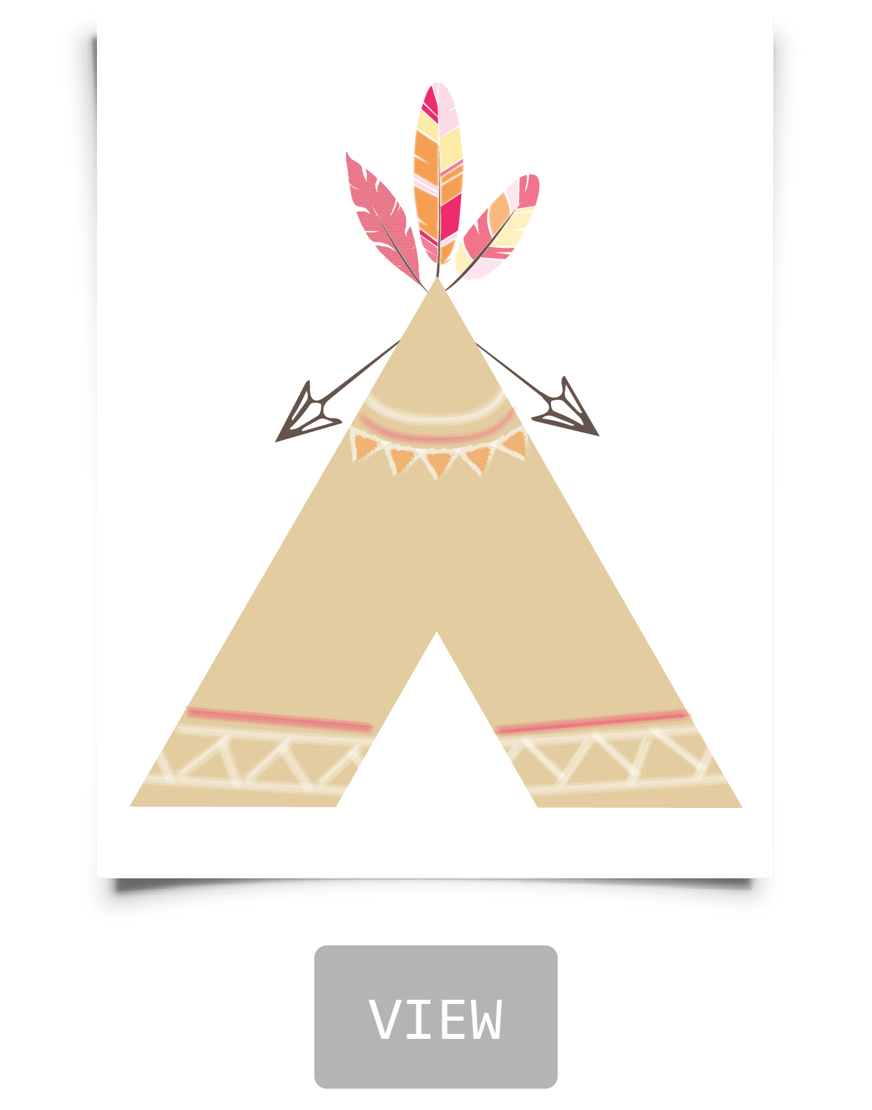 Free Tribal Nursery Printables In 2019 | Bedroom Ideas | Pinterest - Free Printable Teepee