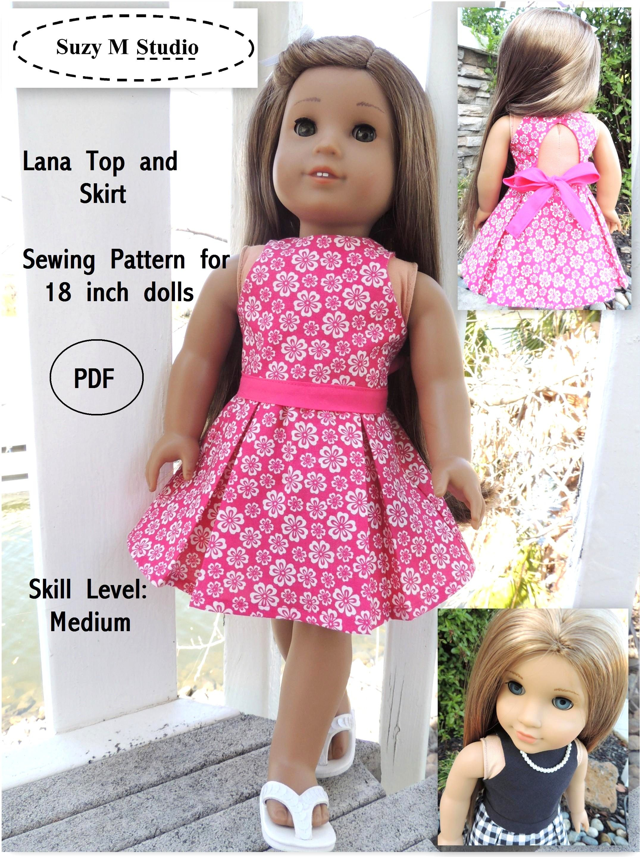 Free Tutorial Pdf | Suzymstudio … | Doll Clothes | Doll … - American Girl Clothes Patterns Free Printable