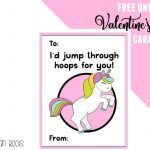 Free Unicorn Valentine's Day Cards Printable For Kids   Ruffles And   Free Printable Valentines Day Cards Kids