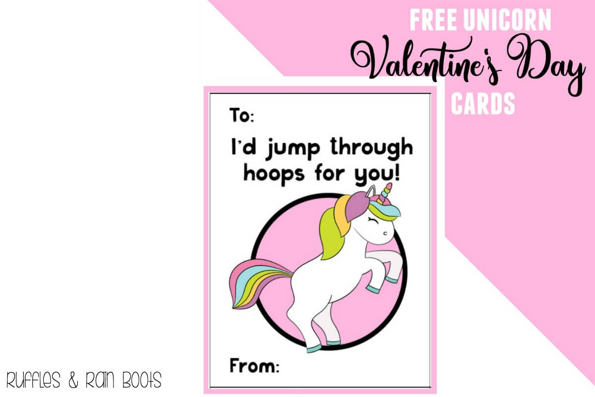 Free Unicorn Valentine's Day Cards Printable For Kids - Ruffles And - Free Printable Valentines Day Cards Kids