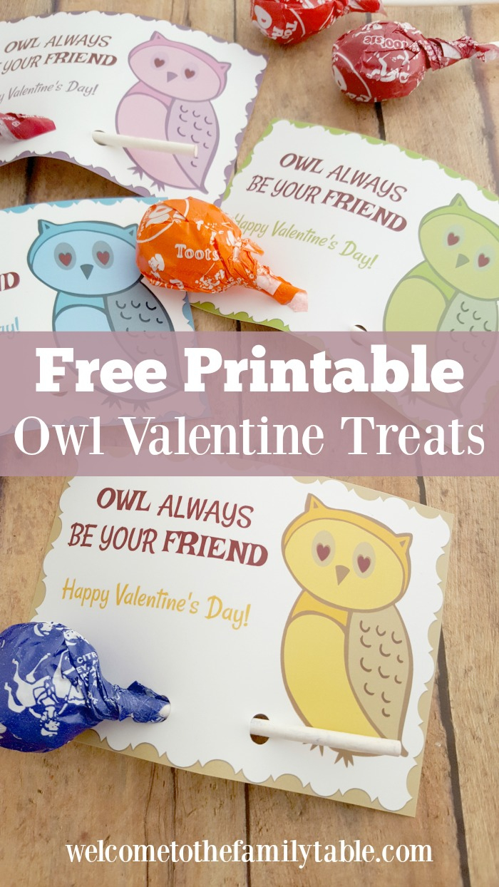 Free Valentine Printable Cards - Welcome To The Family Table™ - Free Printable Owl Valentine Cards
