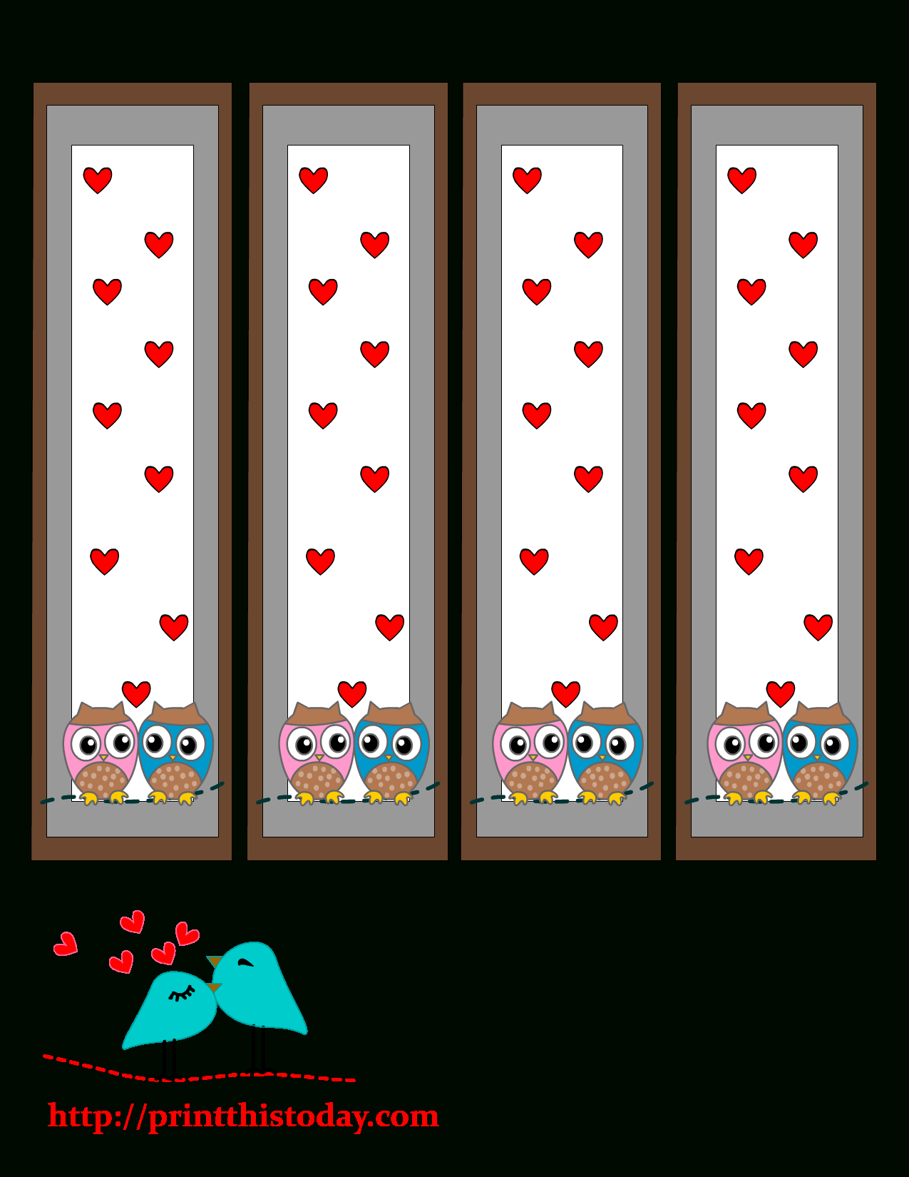 Free Valentines Printables Owl Bookmark - 1.17.kaartenstemp.nl • - Free Printable Bookmarks Templates