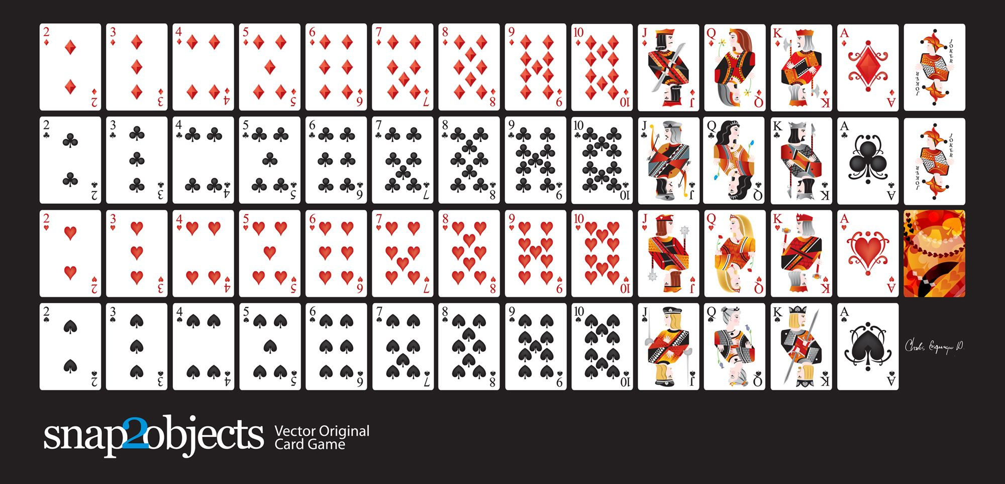 Free-Vector-Card-Deck   Silhouette Cameo   Pinterest   Printable - Free Printable Deck Of Cards