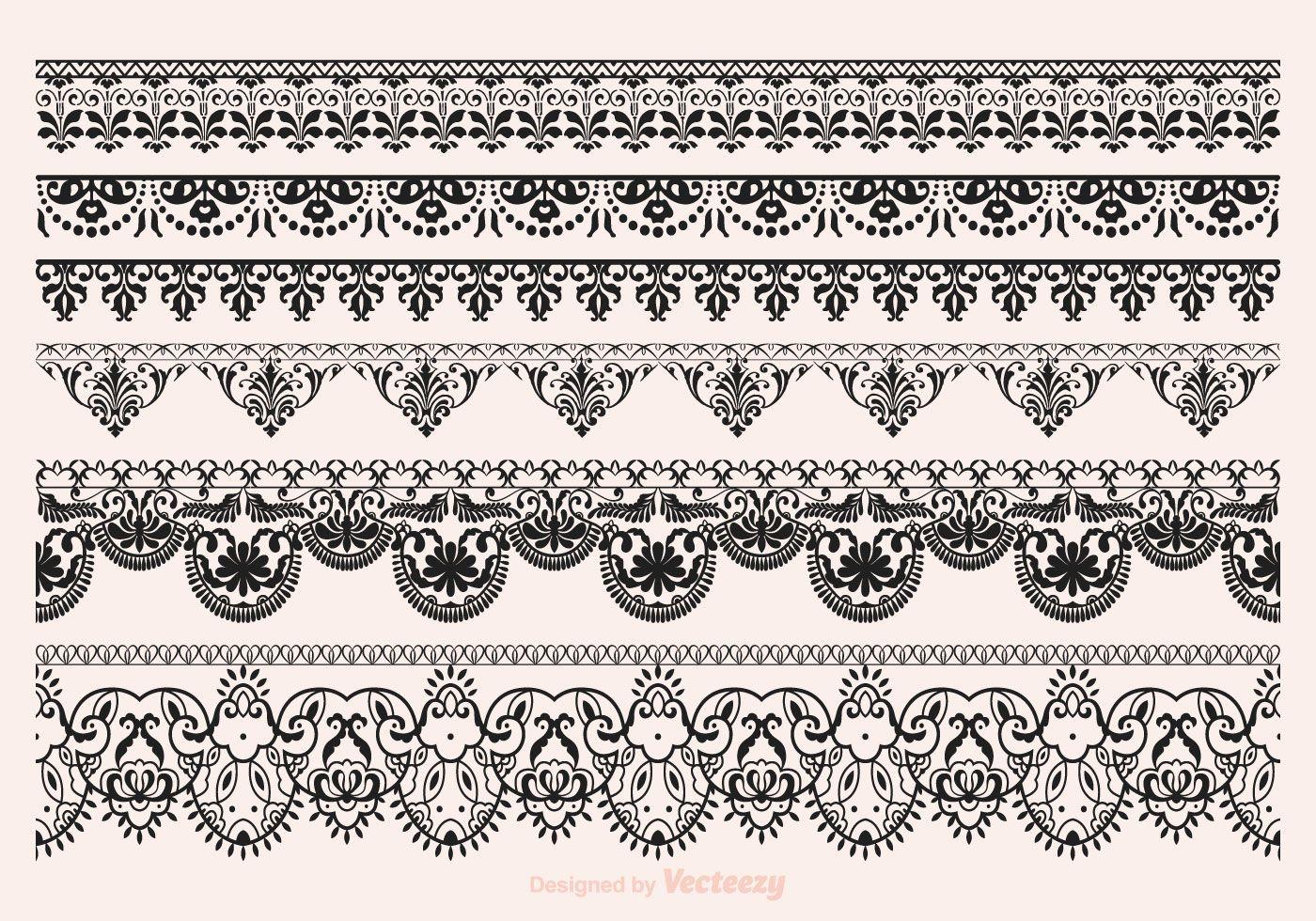 Free Vector Lace Vector Borders | Paint-Plpatt/mud 25 | Pinterest - Free Printable Lace Stencil