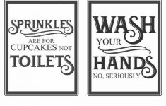 photo about Free Wash Your Hands Signs Printable named Free of charge Basic Lavatory Printables Absolutely free Printables Household