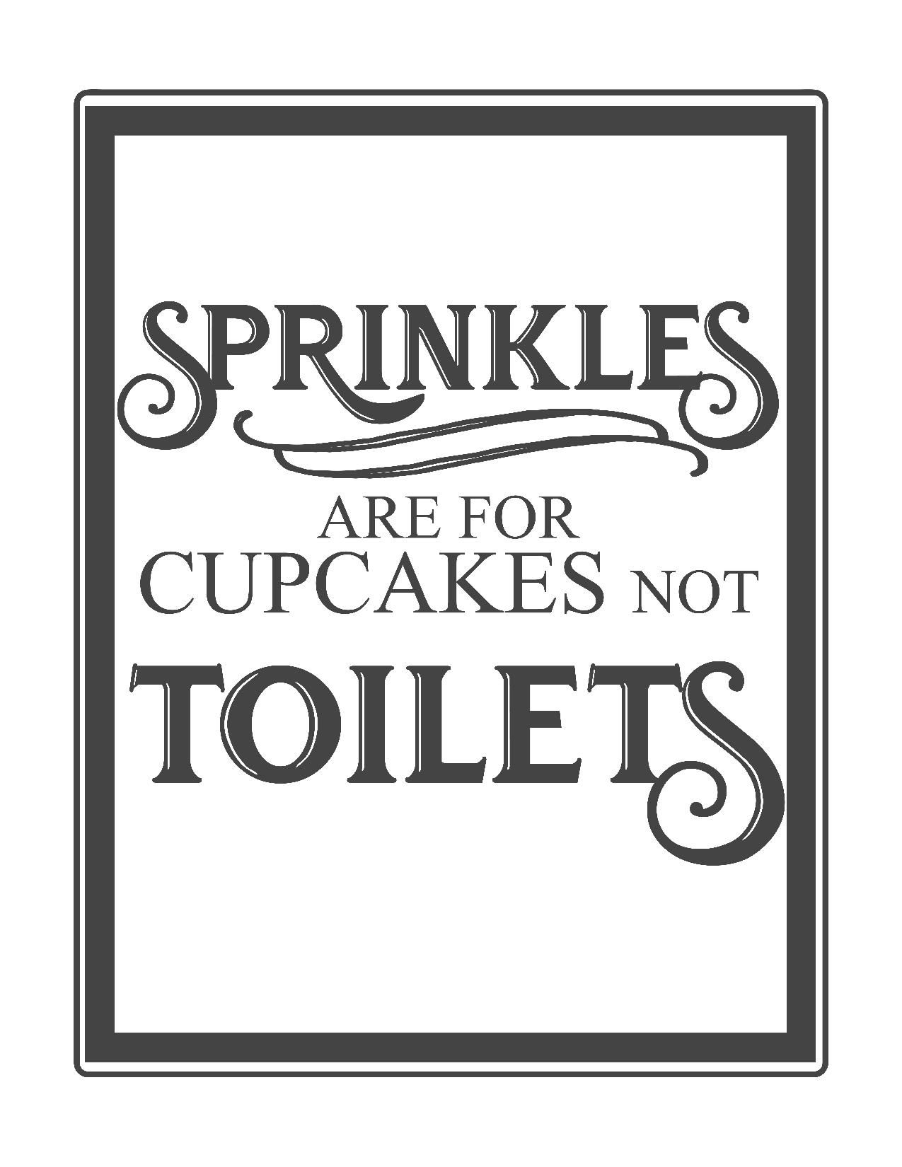 Free Vintage Bathroom Printables | Printables ** | Pinterest - Free Printable Funny Signs