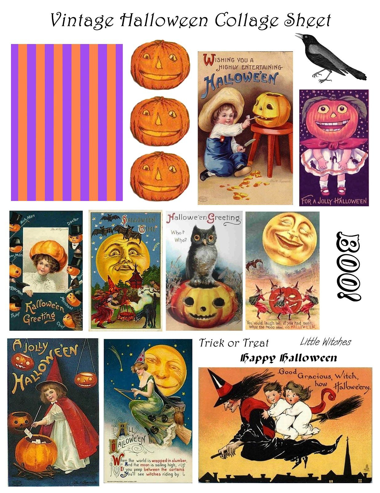 Free Vintage Digital Stamps**: Free Vintage Printable - Halloween - Free Printable Vintage Halloween Images