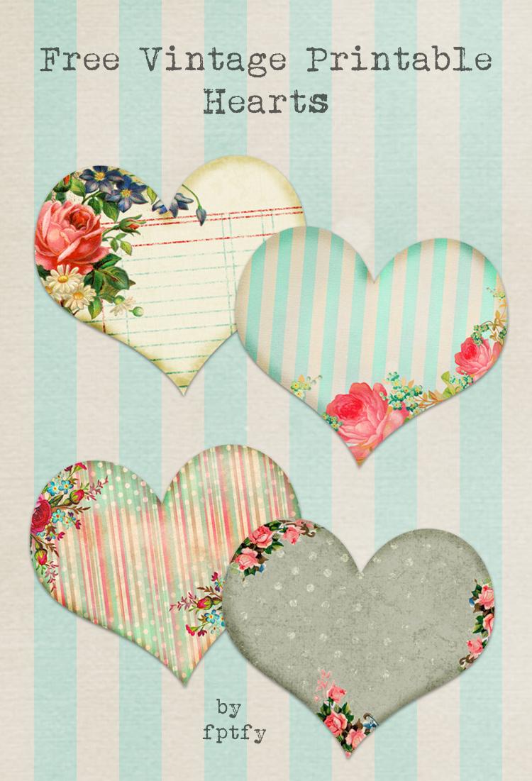 Free Vintage Printable Hearts - Free Pretty Things For You - Free Printable Hearts