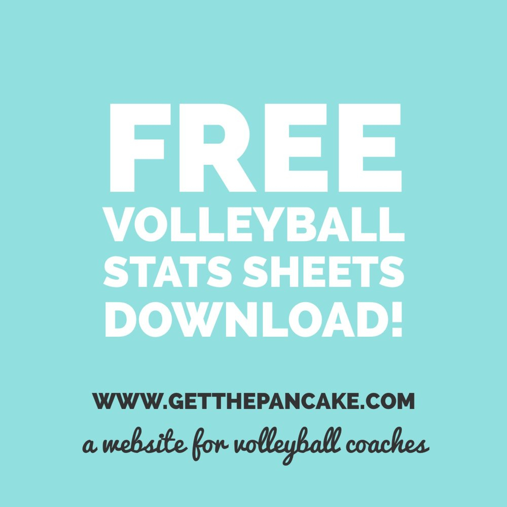 Free Volleyball Stats Sheet Download! — Get The Pancake | A Website - Printable Volleyball Stat Sheets Free