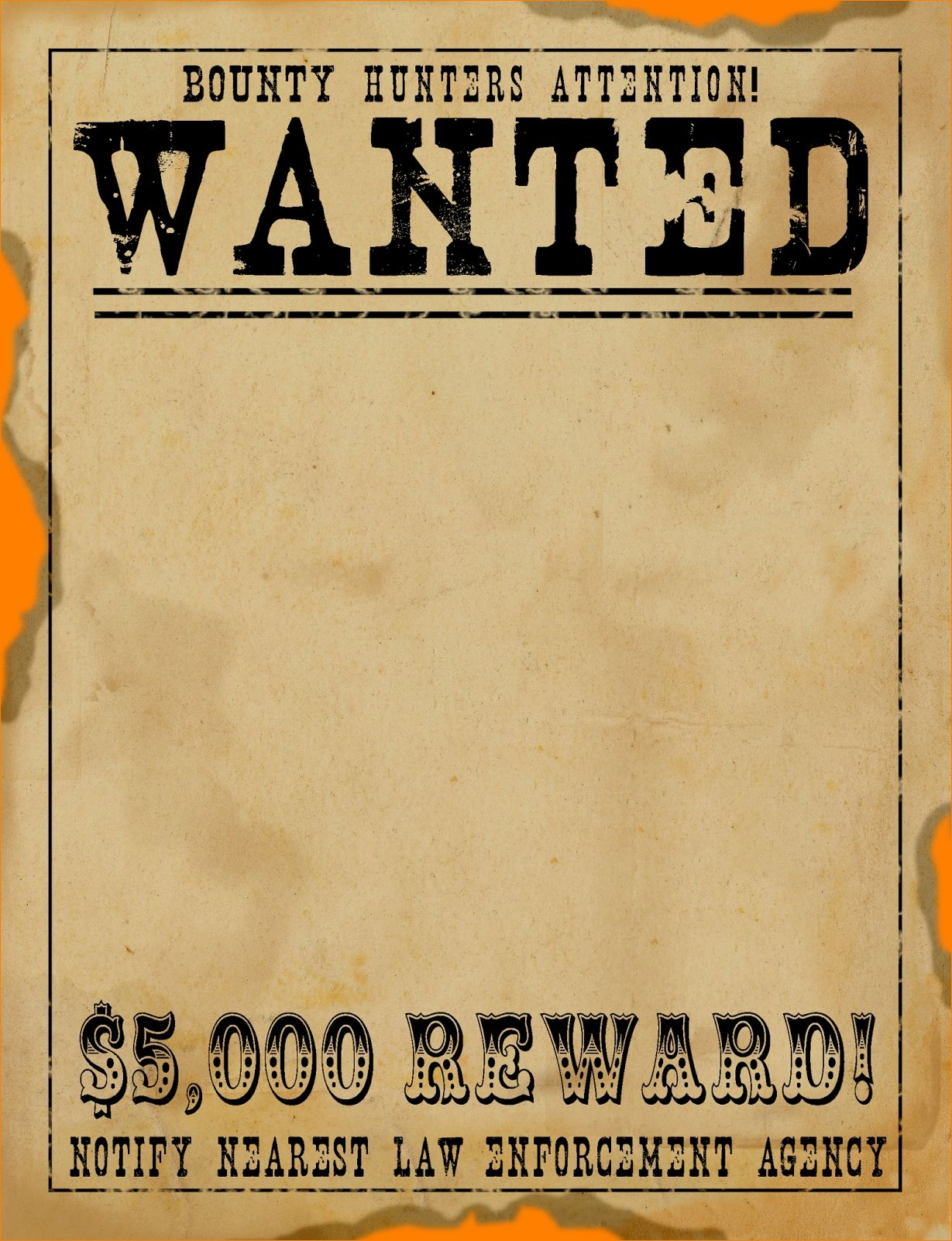 Free Wanted Poster Template Download Clean Free Printable Wanted - Free Printable Flynn Rider Wanted Poster