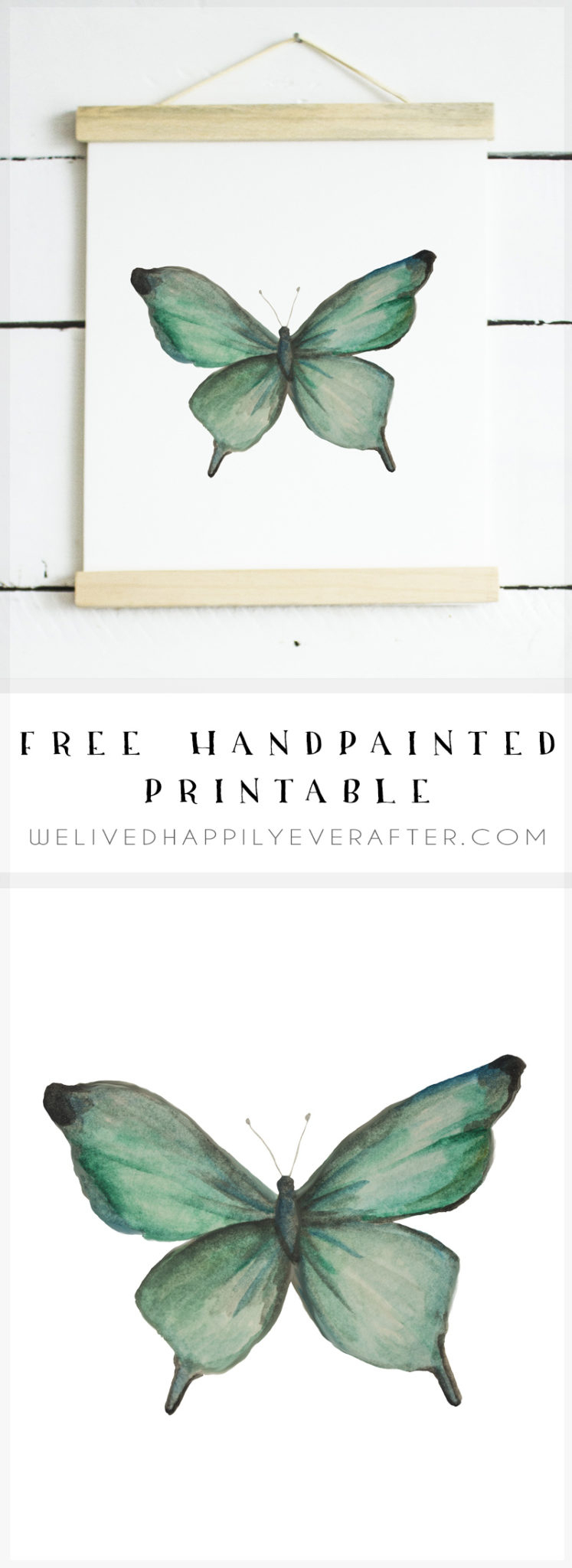 Free Watercolor Butterfly Printable | We Lived Happily Ever Afterwe - Free Printable Butterfly Pictures