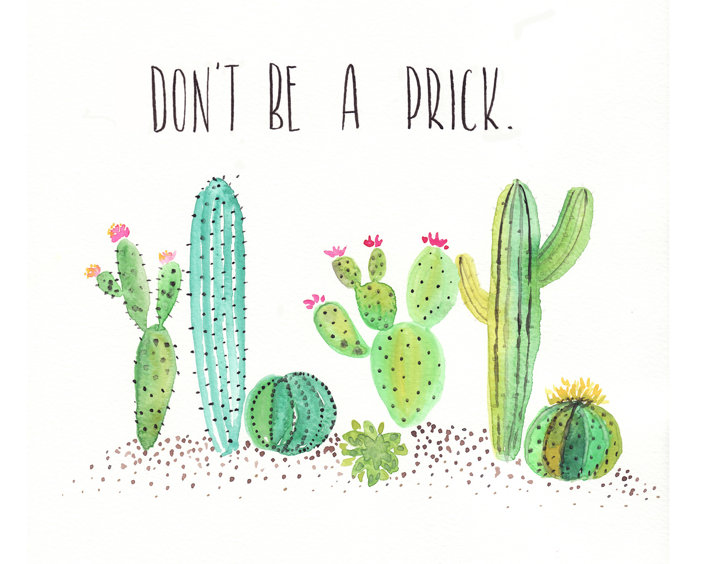 Free Watercolor Cactus Printable - One Project Closer - Free Printable Cactus