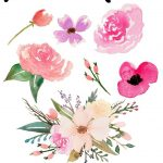 Free Watercolor Flower Graphics From | *all Things Art + Hand   Free Printable Clip Art Flowers