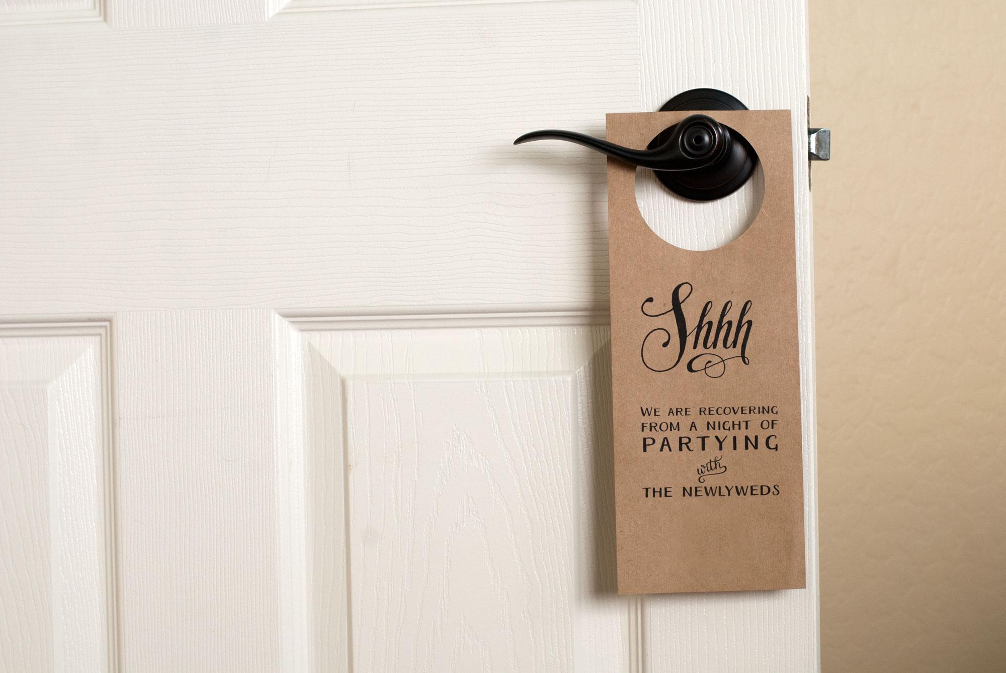 Free Wedding Door Hanger Printable | Handmade And Homegrown - Free Printable Door Knob Hanger Template