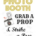 Free Wedding Photo Booth Sign • Scrappy Geek   Free Printable Photo Booth Sign